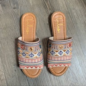 Lulus embroidered sandals